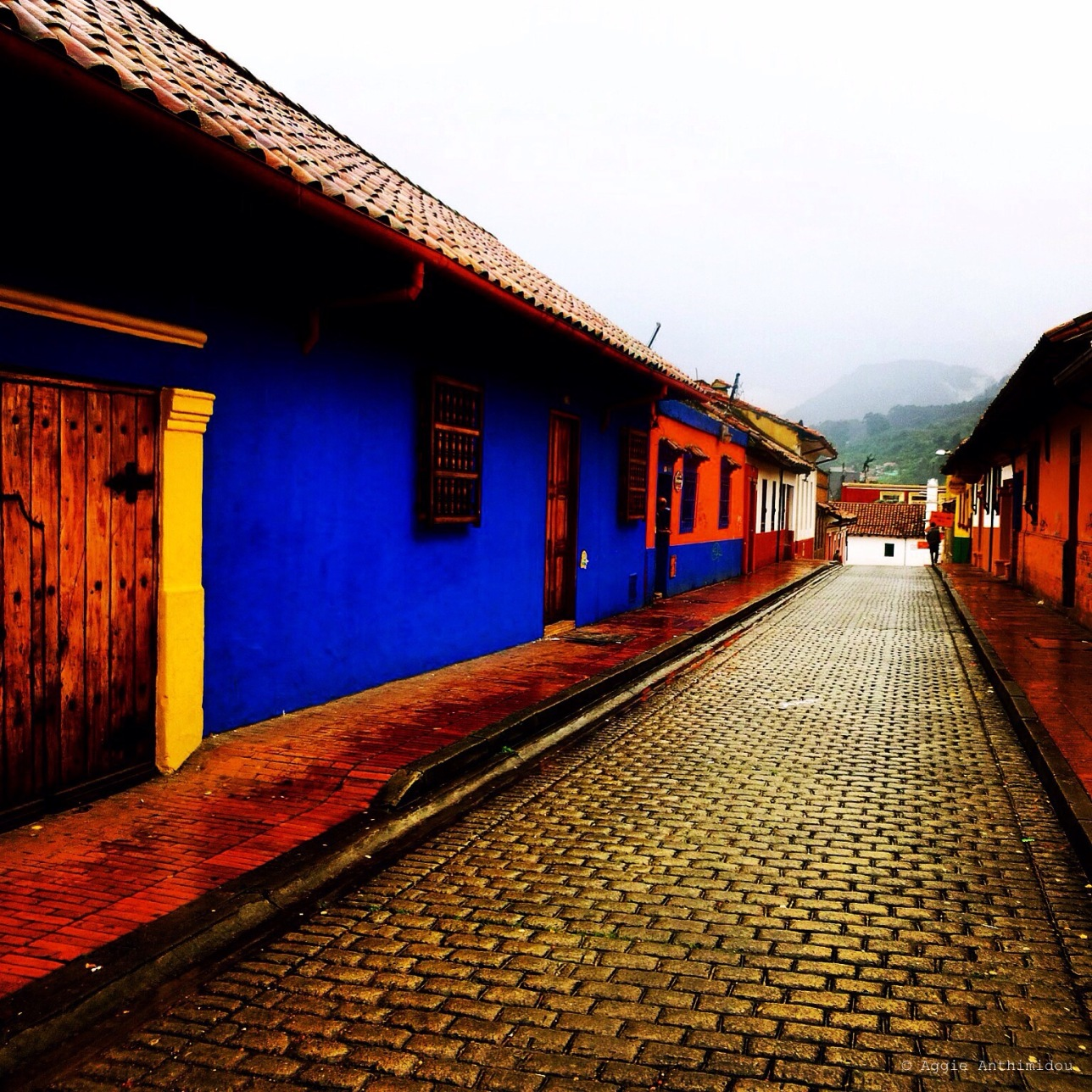 Typical street at Candelaria, Bogota