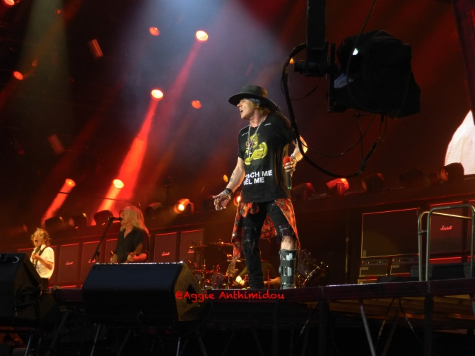 AC/DC and Axl Rose, London, 4 June